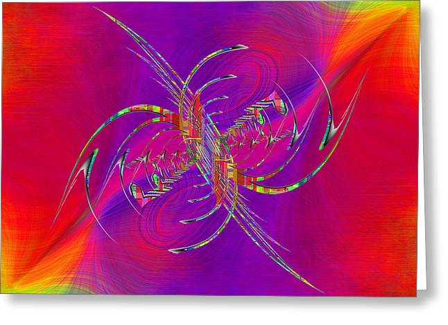 Greeting Cards - Abstract Cubed 365 Greeting Card by Tim Allen