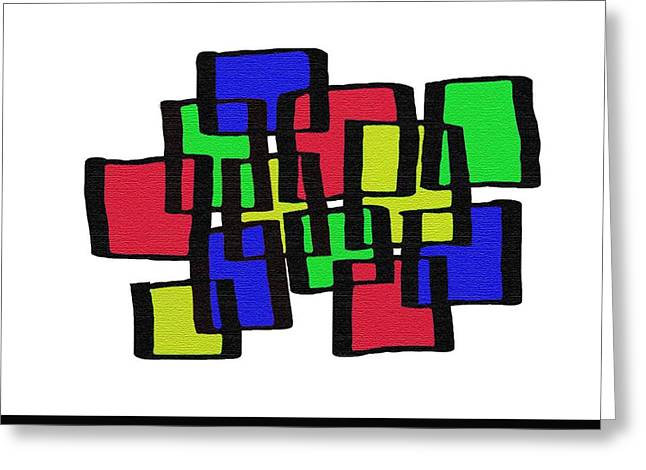 Cubicle Greeting Cards - Abstract Cubicles Greeting Card by Priscilla Wolfe