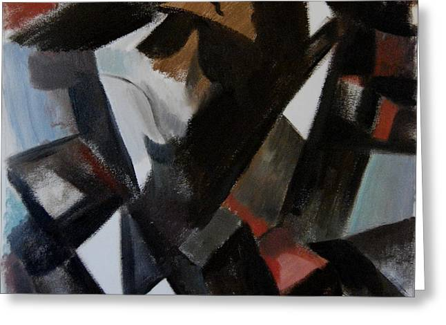 Michael Jackson Greeting Cards - Abstract Cubism Michael Jackson Art Print Greeting Card by Tommervik