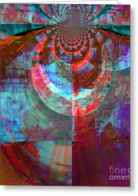 Servant Mixed Media Greeting Cards - Abstract David Dance Greeting Card by Fania Simon