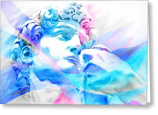 Abstract David Michelangelo 3 Greeting Card by Jose Espinoza