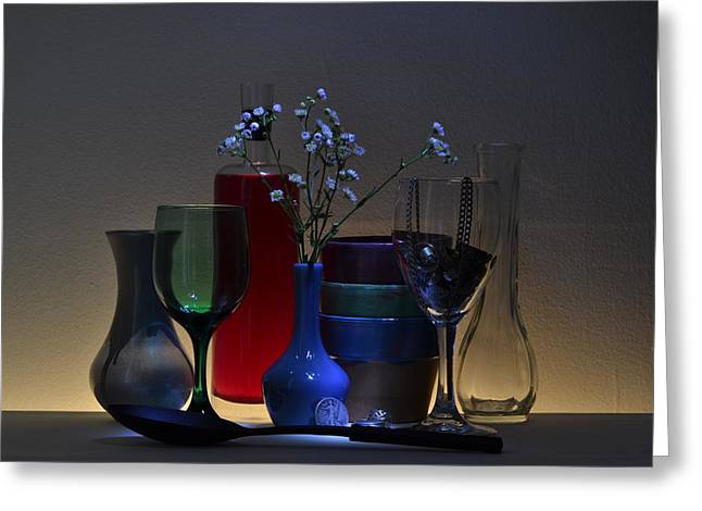 Glass Vase Greeting Cards - Abstract Delights Greeting Card by Brad  Andrews