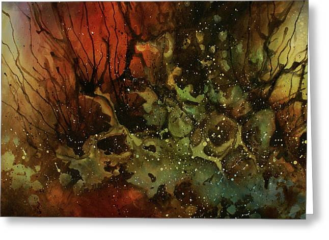 Random Shape Greeting Cards - Abstract Design 101 Greeting Card by Michael Lang