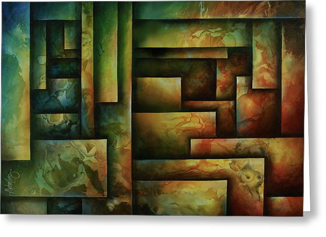 Geometric Design Greeting Cards - Abstract Design 102 Greeting Card by Michael Lang