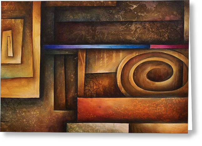 abstract design 30 Greeting Card by Michael Lang