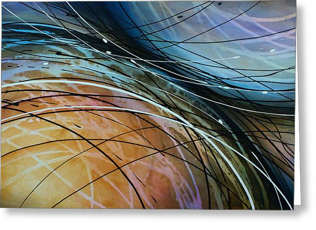 Sofa Size Greeting Cards - Abstract Design 41 Greeting Card by Michael Lang