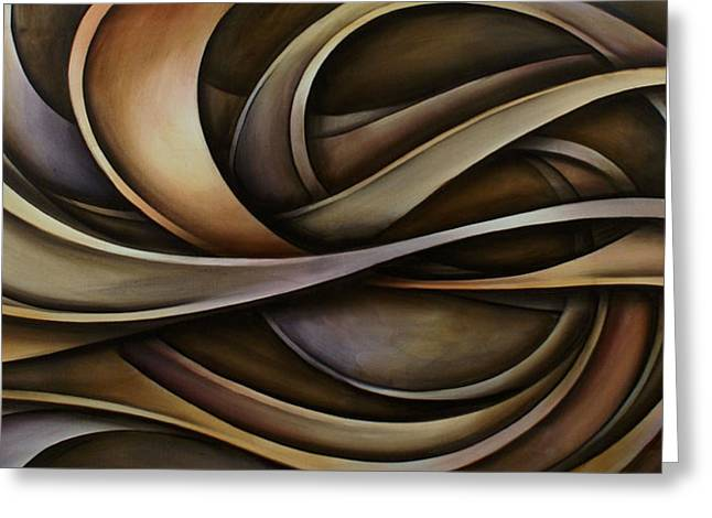 Abstract Design 42 Greeting Card by Michael Lang