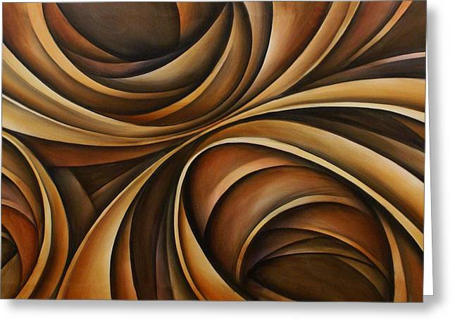 Sofa Size Greeting Cards - Abstract Design 43 Greeting Card by Michael Lang
