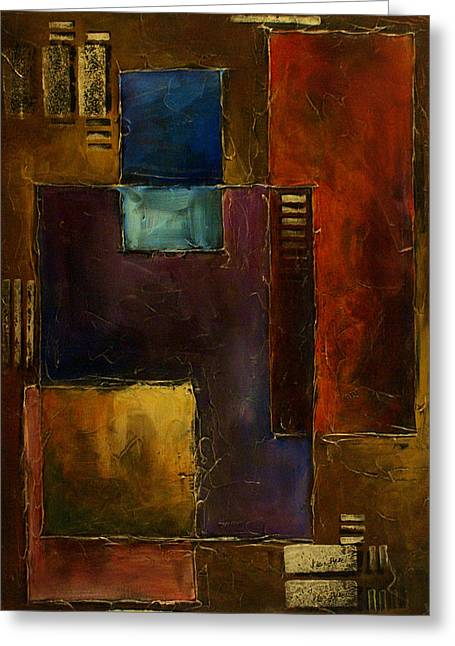 Geometric Design Greeting Cards - Abstract Design 65 Greeting Card by Michael Lang