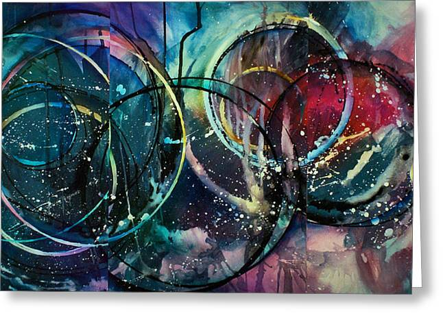 Geometric Shape Paintings Greeting Cards - Abstract Design 78 Greeting Card by Michael Lang