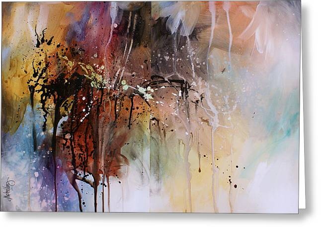 Abstract Design 80 Greeting Card by Michael Lang