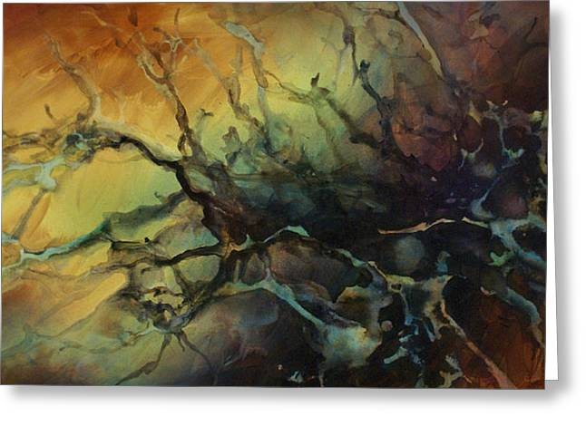 Abstract Design 85 Greeting Card by Michael Lang