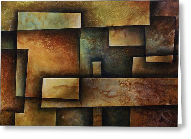 Abstract Design 9 Greeting Card by Michael Lang