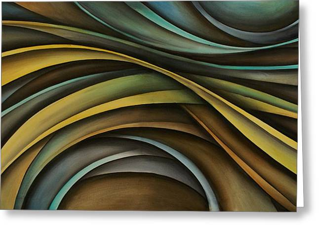 Pale Colors Greeting Cards - Abstract Design 99 Greeting Card by Michael Lang