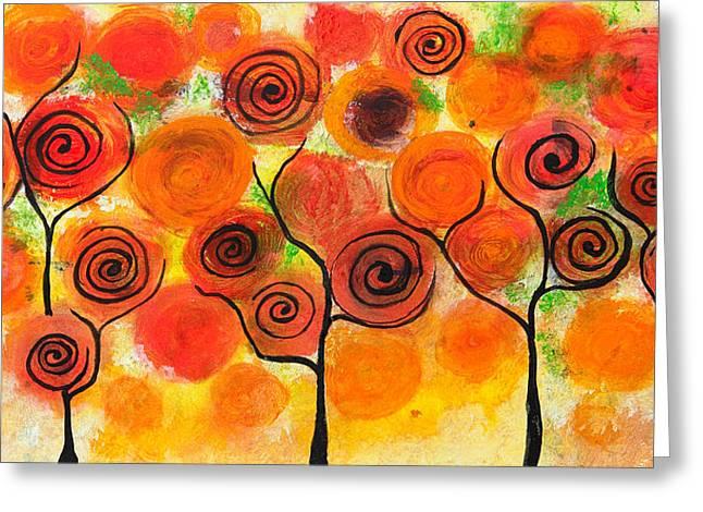 Veins Drawings Greeting Cards - Abstract design Greeting Card by Nirdesha Munasinghe