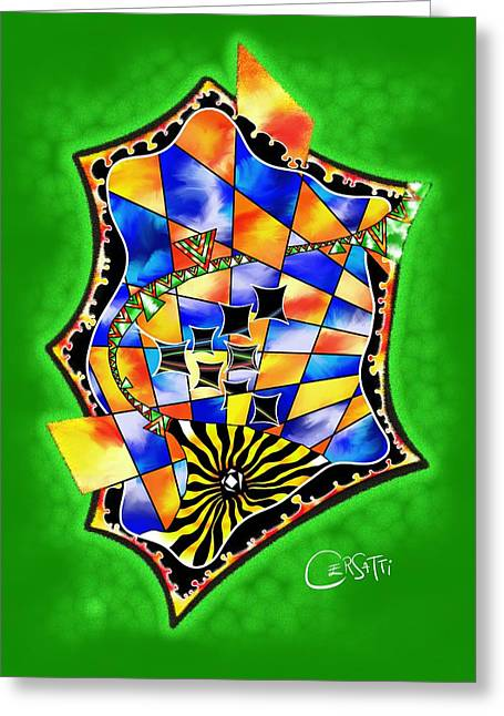 Final Fantasy Greeting Cards - Abstract digital art - Stavoris V3 Greeting Card by Cersatti