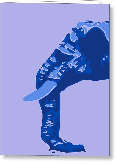 Keshava Greeting Cards - Abstract Elephant Doll Blue Greeting Card by Keshava Shukla