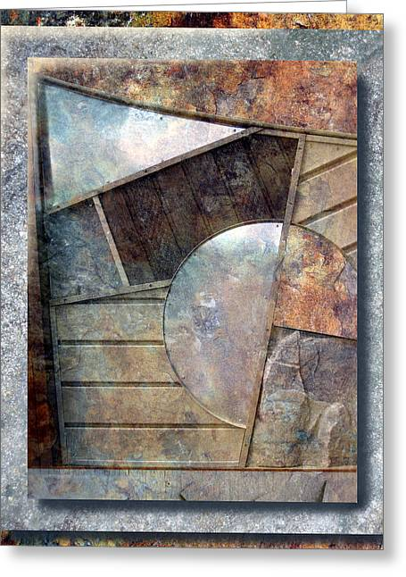 Framed Reliefs Greeting Cards - Abstract Entry Greeting Card by Ken Shotwell