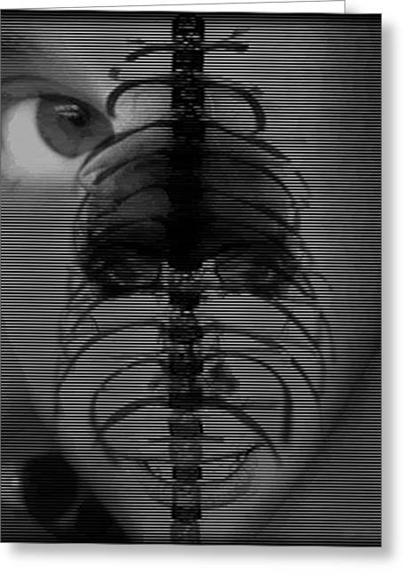 Deviant Greeting Cards - Abstract Face Greeting Card by William Goodson
