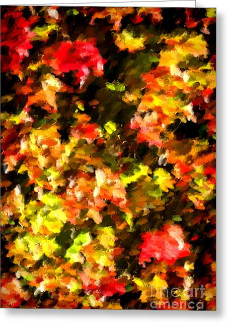 Abstract Fall Vine Greeting Card by Olivier Le Queinec