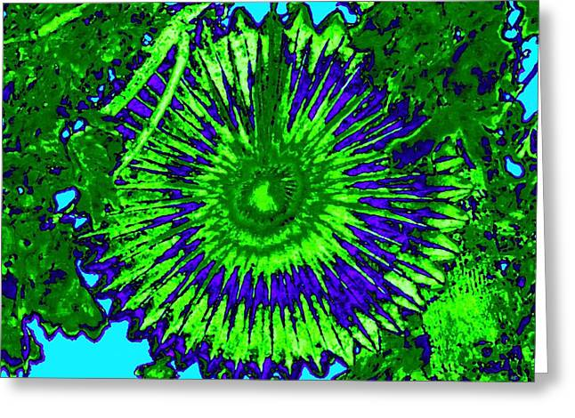 Abstract Digital Digital Greeting Cards - Abstract Fan Wheel Greeting Card by Will Borden