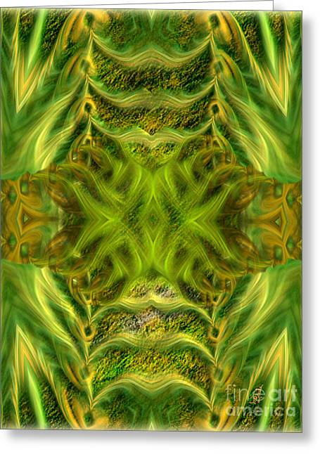 Power Plants Greeting Cards - Abstract fantasy art - Spirit of the jungle by RGiada Greeting Card by Giada Rossi