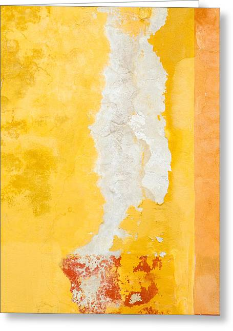 Abstract. Flaking Paint On Stucco. Greeting Card by Rob Huntley