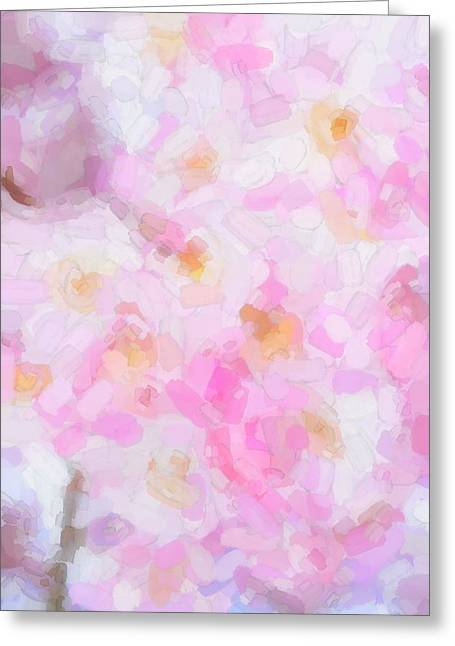 Springflowers Greeting Cards - Abstract flowers  Greeting Card by Toppart Sweden