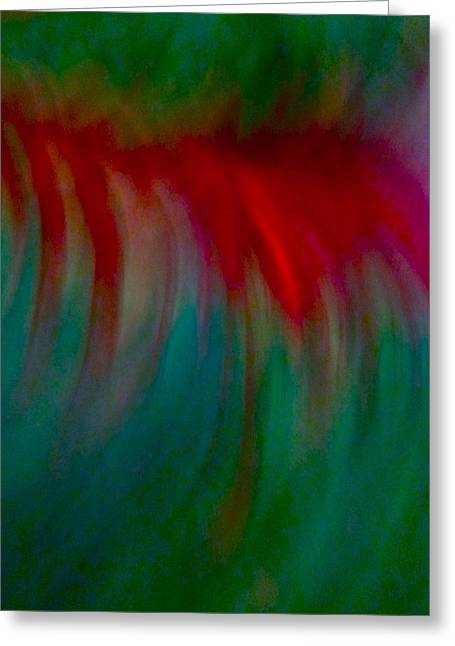Photograph Mixed Media Greeting Cards - Abstract flowing Greeting Card by Gwyn Newcombe
