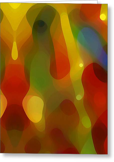 Abstract Nature Greeting Cards - Abstract Flowing Light Greeting Card by Amy Vangsgard