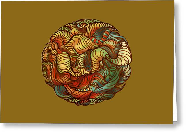 Fb Greeting Cards - Abstract Forest ball Greeting Card by Irina Effa