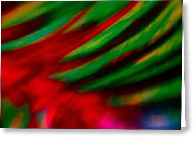 Photograph Mixed Media Greeting Cards - Abstract frolic Greeting Card by Gwyn Newcombe