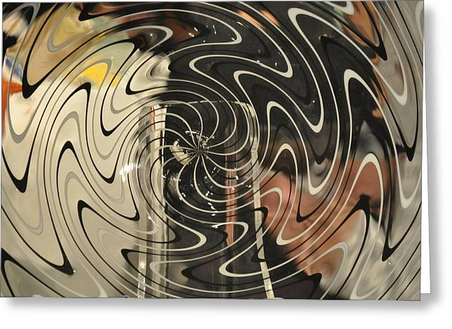 Abstract Glass 3 Greeting Card by Marty Koch