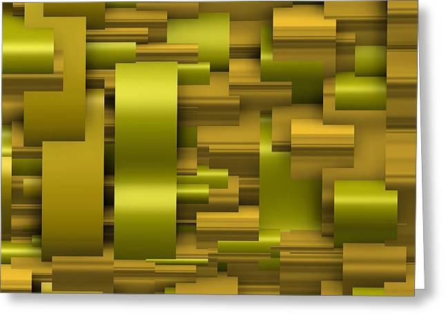 Modern Greeting Cards - Abstract gold Greeting Card by Alberto  RuiZ