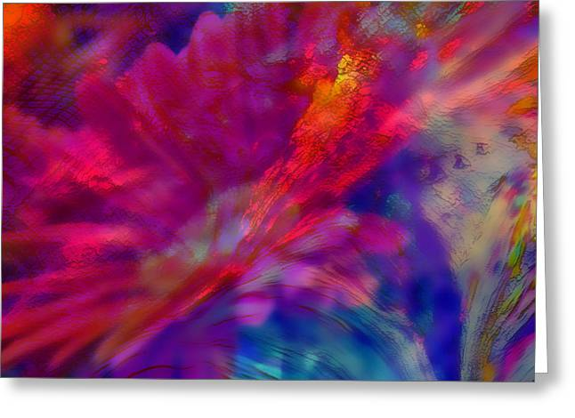Sherri Painting Greeting Card featuring the digital art Abstract Gypsy Flower by Sherri  Of Palm Springs