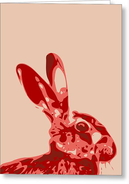 Keshava Greeting Cards - Abstract Hare Contours Glaze Greeting Card by Keshava Shukla