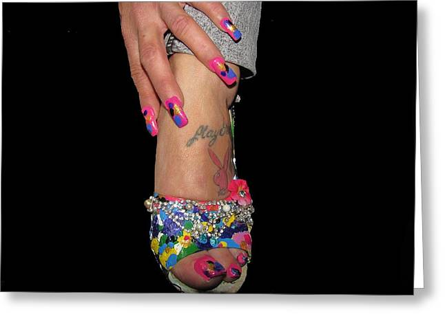 Photo Jewelry Greeting Cards - Abstract High Heel Shoe Greeting Card by HollyWood Creation By linda zanini