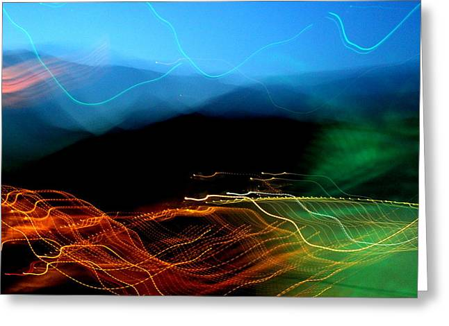 Generators Greeting Cards - Abstract Hoover Dam Lights by Earls Photography Greeting Card by Earl  Eells a