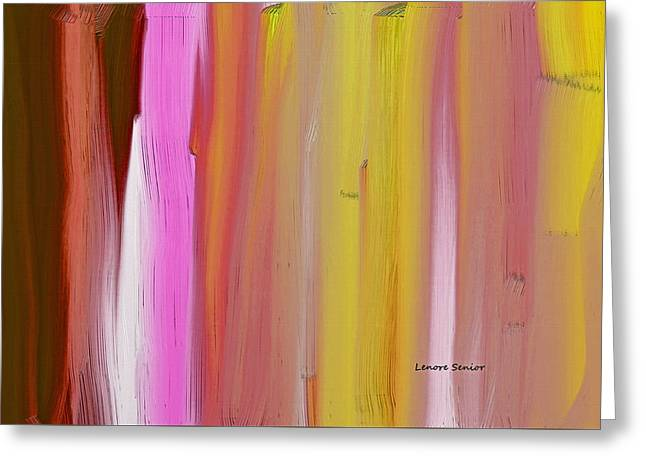 Abstract Horizontal Greeting Card by Lenore Senior