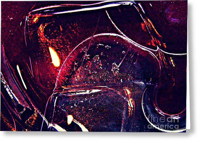 Sarah Loft Greeting Cards - Abstract Ice 2 Greeting Card by Sarah Loft