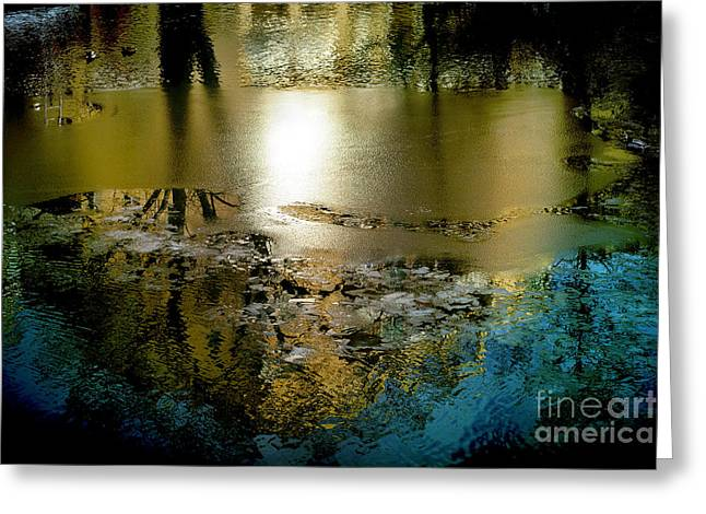 Abstract Ice Greeting Card by Camilla Cherry