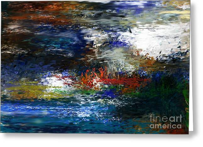 abstract impression 5-9-09 Greeting Card by David Lane