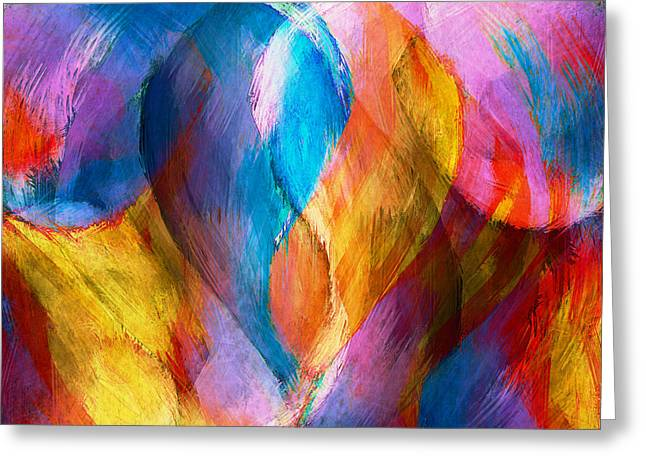 Bryant Greeting Cards - Abstract in Aqua Greeting Card by Brenda Bryant