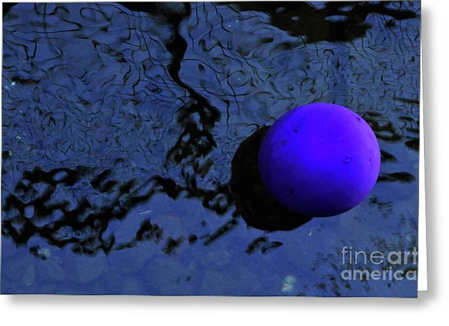 Balloon Art Greeting Cards - Abstract in Blue and Black Greeting Card by Kaye Menner