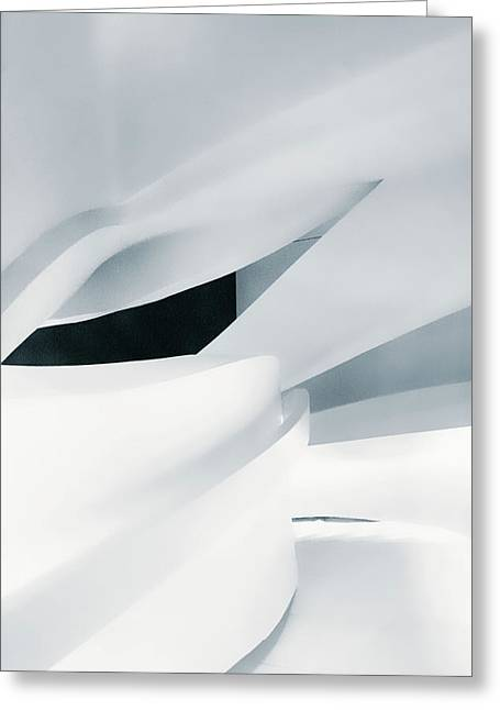 Ice Blue Stairway Greeting Card by Jessica Jenney