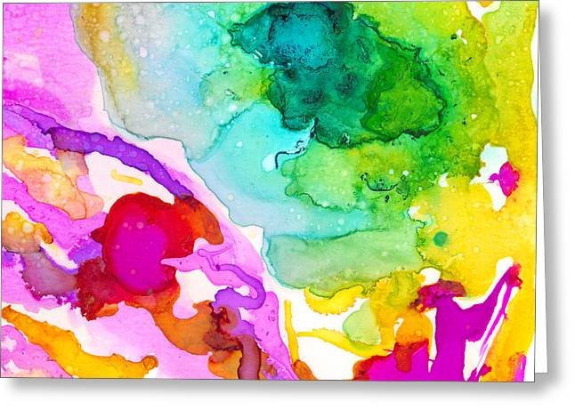 Transcendent Love 1 Abstract Ink Art Colorful Original Artwork Greeting Card by Patricia Awapara