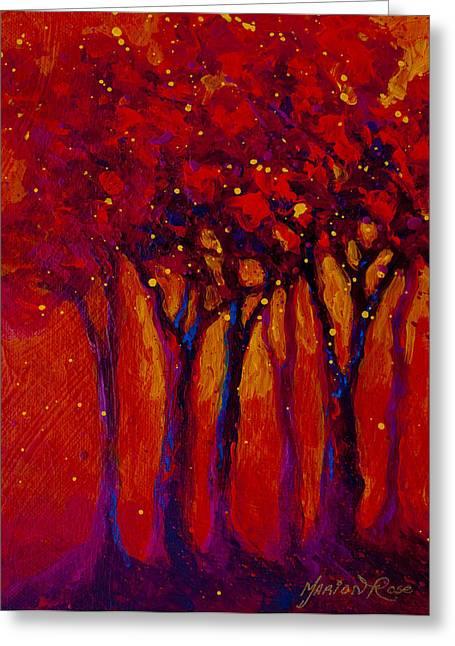 Autumn Aspens Greeting Cards - Abstract Landscape 2 Greeting Card by Marion Rose