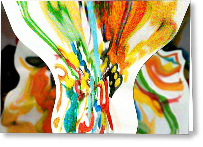 Abstract Digital Digital Greeting Cards - Abstract Layer Greeting Card by Jacquie King