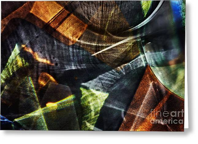 Glass Reflecting Greeting Cards - Abstract light Greeting Card by Elena Lir-Rachkovskaya