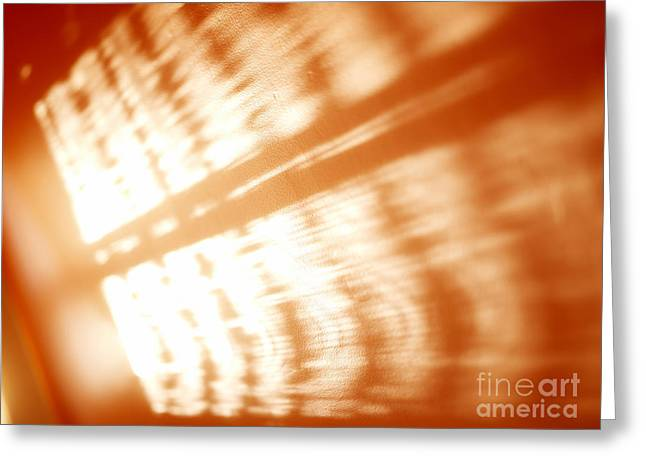 Visual Imagery Greeting Cards - Abstract light rays Greeting Card by Tony Cordoza